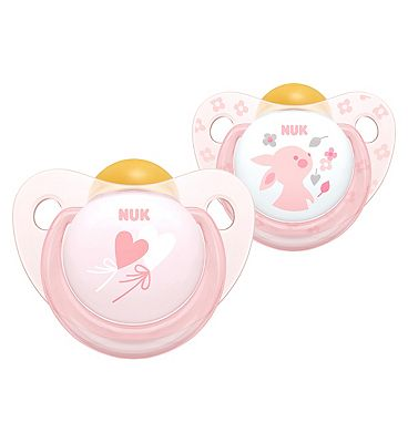 NUK Rose & Blue Latex Soother 6 - 18 Months Rose