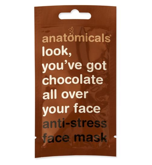 Anatomicals look you've got chocolate all over your face face mask