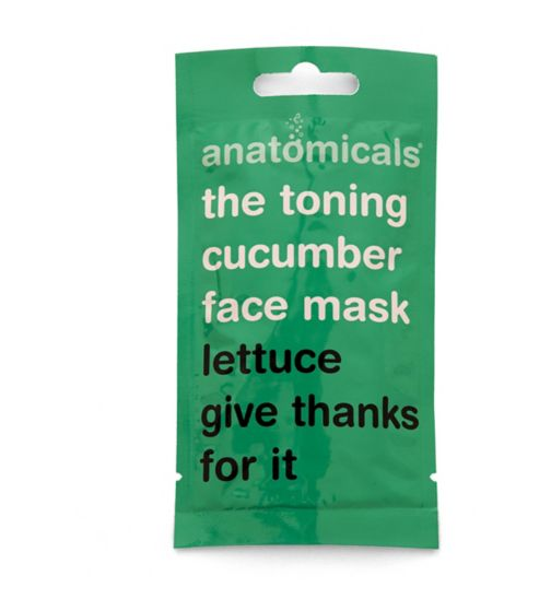Anatomicals the toning cucumber face mask. Lettuce give thanks for it