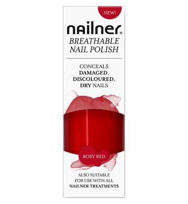 10244034: Nailner Breathable Nail Polish Rosy Red - 8ml