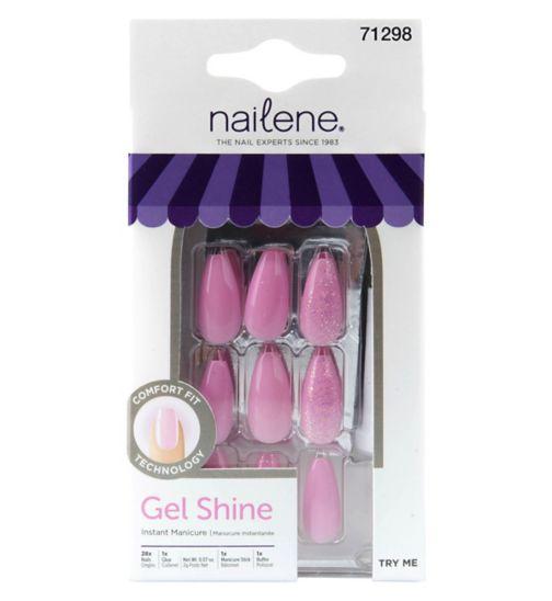 a2d535654138 Nailene Gel Shine - Pink Glitter Ballerina