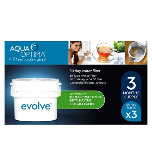 Aqua Optima Evolve Water Filter - 3 Cartridges
