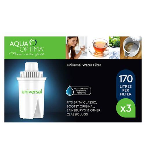 Aqua Optima Universal Water Filter - 3 Cartridges