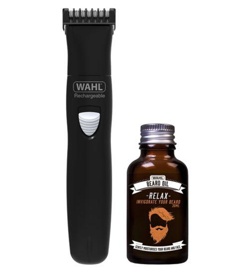 Wahl Beard Trimmer and Beard Oil Gift Set