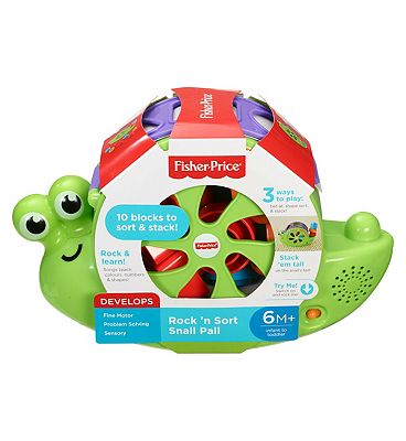Fisher Price Rock 'n Sort Snail Pail