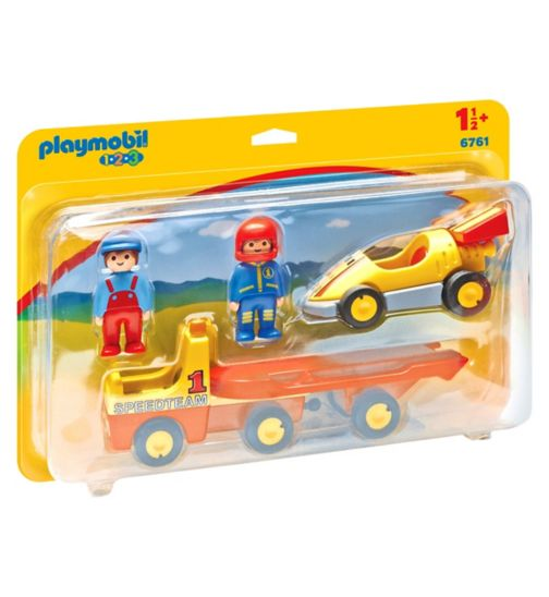 Playmobil 6761 1.2.3 Tow Truck with Race