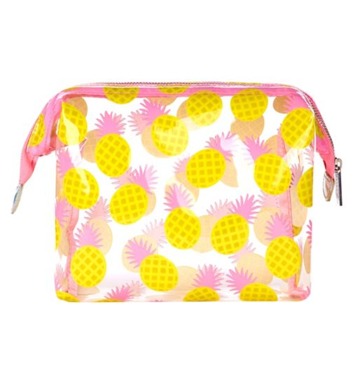Skinnydip pineapple wash bag