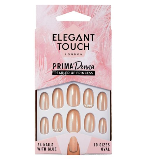 Elegant Touch Prima Donna Nails - Pearled Up Princess