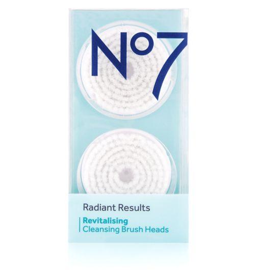 No7 Radiant Results Revitalising Brush Heads x2