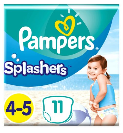 Pampers Splashers Size 4-5, 11 Disposable Swim Nappies, 9-15kg