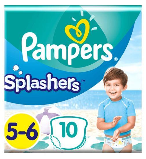 Pampers Splashers Size 5-6, 10 Disposable Swim Pants, 14+kg