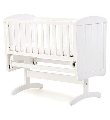 Mothercare Crib Deluxe Glide White