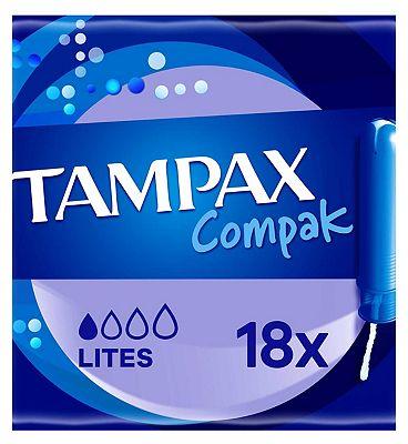 Tampax Compak Lites Tampons Applicator 18X