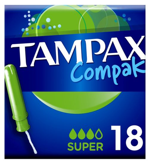Tampax Compak Super Tampons Applicator 18X