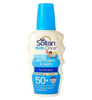 Soltan Kids 3hr Protect & Swim SPF50+ 200ml Sun Cream Spray