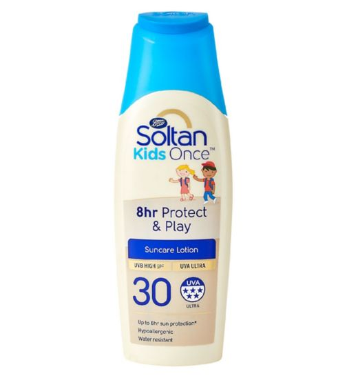 Soltan Once Kids 8hr Protect & Play lotion SPF30 200ml