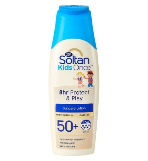 Soltan Once Kids 8hr Protect & Play lotion SPF50+ 200ml