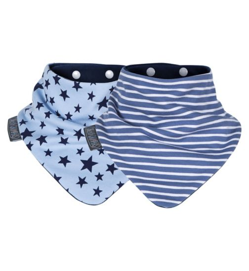 Cheeky Chompers Neckerbibs - Blue Stars & Stripes