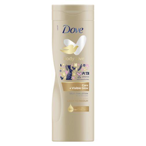 Dove Visible Glow Fair to Medium Self Tan Body Lotion 400 ml