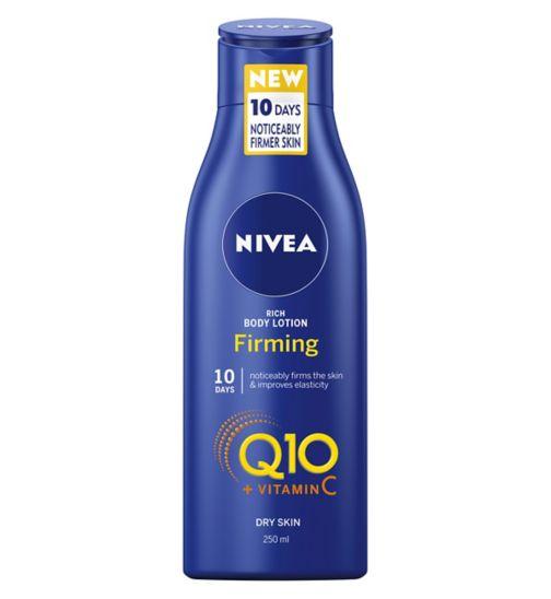 NIVEA Q10 + Vitamin C Firming Body Lotion for Dry Skin, 250ml