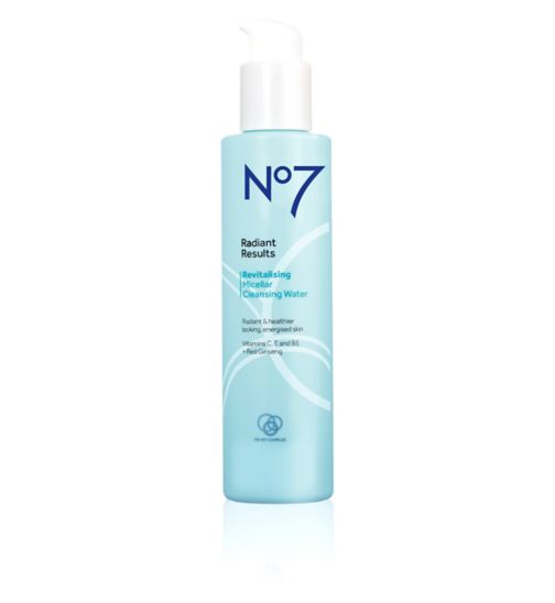 No7 Radiant Results Revitalising Micellar Cleansing Water