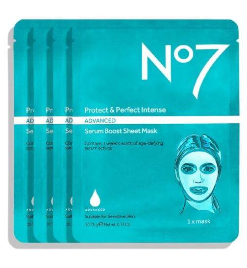 No7 Protect & Perfect Intense ADVANCED Serum Boost Sheet Masks