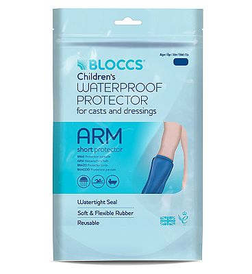 Bloccs Waterproof Protector for Casts and Dressings - Child Short Arm 1-3 yr