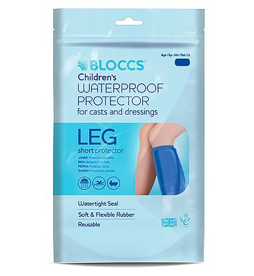Bloccs Waterproof Protector for Casts and Dressings - Child Short Leg 1-3 yr