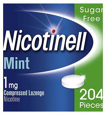 Nicotinell Nicotine Lozenge Stop Smoking Aid 1 mg Mint 204 Pieces