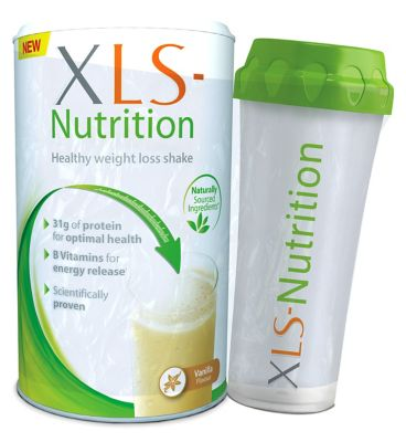 10246999: XLS Nutrition Vanilla flavour shake and Shaker