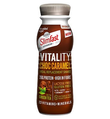 SlimFast Advanced Vitality Choc Caramel Meal Replacement Shake - 275ml