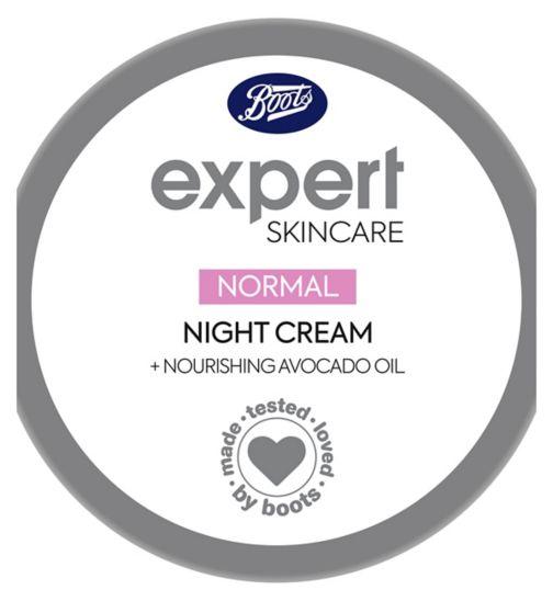 Boots Expert normal night moisturiser + nourishing avocado oil