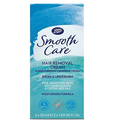 Image of Boots Smooth Care Hair Removal Cream for Bikini & Underarm 50ml