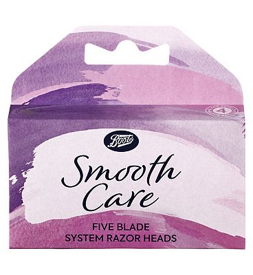 Image of Boots Smooth Care Five Blade System Replacement Razor Blades