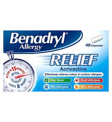 Benadryl Allergy Relief - 48 Capsules