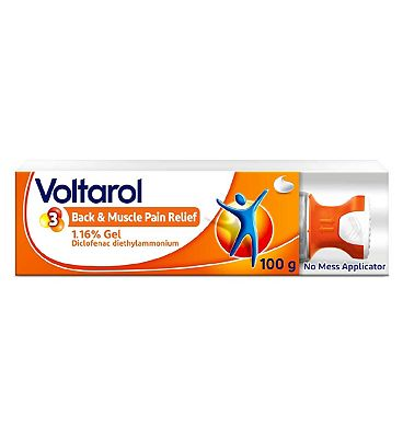 Voltarol Back and Muscle Pain Relief Gel with No Mess Applicator 1.16% 100g