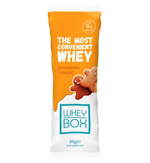 Whey Box The Most Convenient Whey Gingerbread Flavour Protein - 20g Sachet