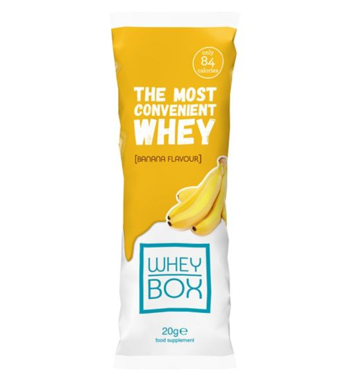 Whey Box The Most Convenient Whey Banana Flavour Protein - 20g Sachet