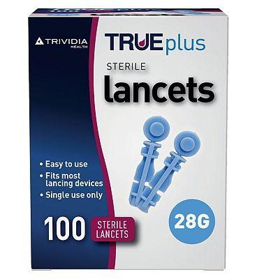 Trividia Trueplus Sterile Lancets 28 Gauge - 100 Lancets