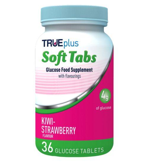 Trividia Trueplus Glucose Soft Tabs 36 Tablets - Kiwi-Strawberry Flavour