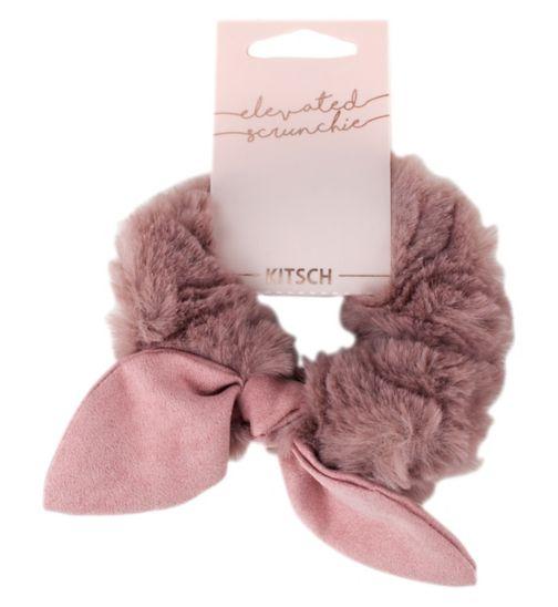 Kitsch Faux Fur/Suede Scrunchie