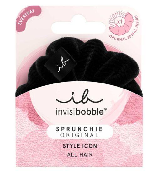Invisibobble spiral sprunchie true black