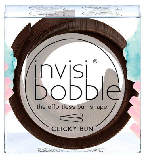 Invisibobble bun shaper clicky bun - pretzel brown