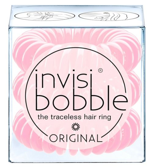 Invisibobble original blush hour hair ties 3 pack
