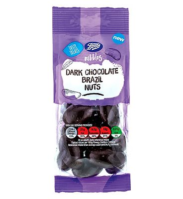 Boots Nibbles Dark Chocolate Brazil Nuts - 150g