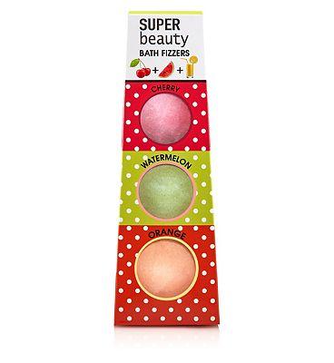 Super Beauty Cherry, Watermelon and Orange Bath Fizzers