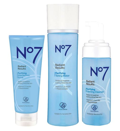 No7 Radiant Results Purifying Cleansing Trio