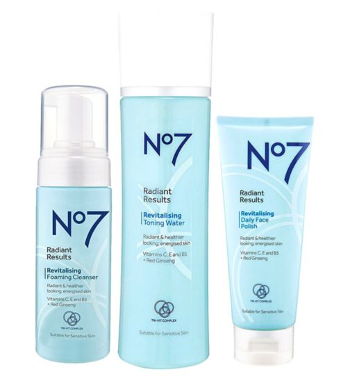 No7 Radiant Results Revitalising Cleansing Trio