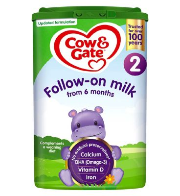 cow gate follow on milk 2 from 6 12 months 800g