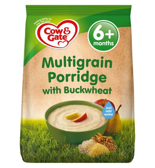 Cow & Gate Multigrain Porridge with Buckwheat from 6m Onwards 210g